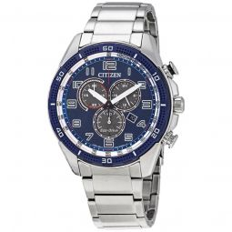 Men's AR Chronograph Stainless Steel Blue Dial