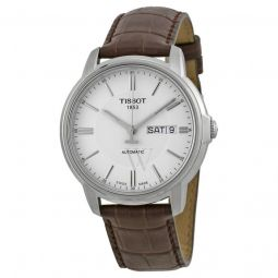 Men's Automatic III Brown Leather White Dial Watch