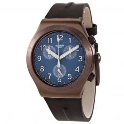 Men's Back To Copper Rubber Blue Dial Watch