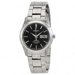 Men's Black Dial Sapphire Crystal Stainless Steel Watch