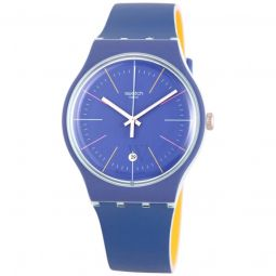 Men's Blue Layered Silicone Blue Dial Watch