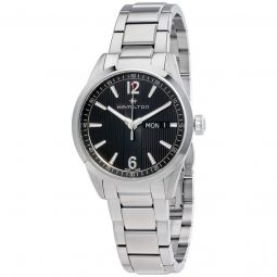Men's Broadway Day Date Stainless Steel Anthracite Grey Dial