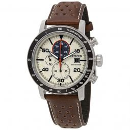 Men's Brycen Chronograph Leather Light Brown Dial