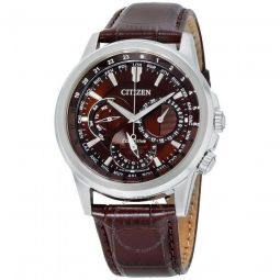 Men's Calendrier Leather Brown Dial Watch