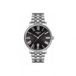 Men's Carson Premium Stainless Steel Black Dial Watch