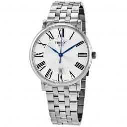 Men's Carson Premium Stainless Steel Silver Dial Watch