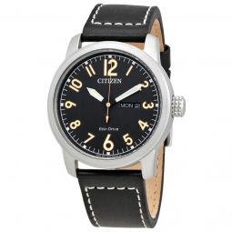 Men's Chandler Leather Black Dial