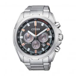 Men's Chronograph Stainless Steel Black Dial Watch