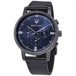 Men's Classe Chronograph Leather Blue Dial Watch