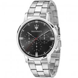 Men's Classe Chronograph Stainless Steel Black Dial