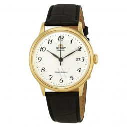 Men's Classic Leather White Dial Watch