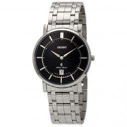 Men's Classic Stainless Steel Black Dial