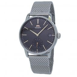 Men's Contemporary Stainless Steel Mesh Brown Dial Watch