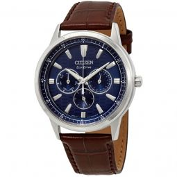 Men's Corso Leather Blue Dial
