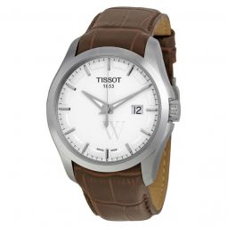 Men's Couturier Leather Silver Dial