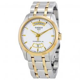 Men's Couturier Powermatic 80 Two-tone (Silver and Gold PVD) Stainless Steel White Dial Watch