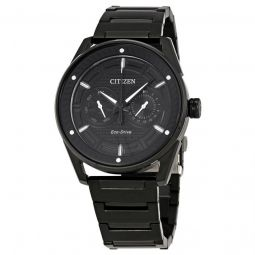 Men's CTO Stainless Steel Black Dial Watch