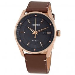 Men's Drive Leather Grey Dial