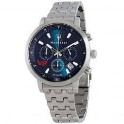 Men's Granturismo Chronograph Stainless Steel Blue Dial Watch