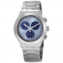Men's Irony Sky Icon Chronograph Stainless Steel Blue Dial Watch