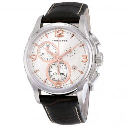 Men's Jazzmaster Chronograph Brown Leather Silver Dial Watch