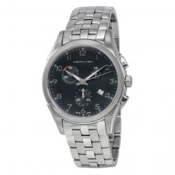 Men's Jazzmaster Chronograph Stainless Steel Black Dial Watch