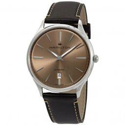 Men's Jazzmaster Leather Brown Dial Watch