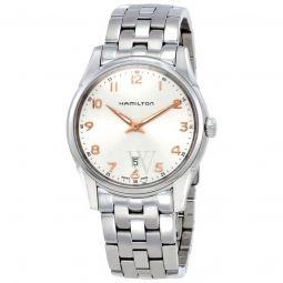 Men's Jazzmaster Thinline Stainless Steel Silver Dial Watch