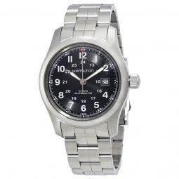 Men's Khaki Brushed Stainless Steel Black Dial Watch