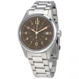 Men's Khaki Field Stainless Steel Brown Dial Watch