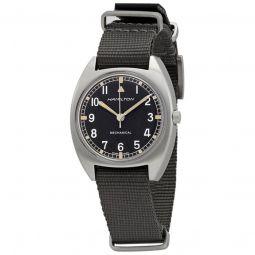 Men's Khaki Pilot Pioneer Nylon NATO Black Dial Watch