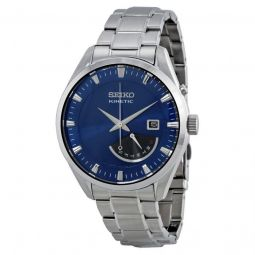 Men's Kinetic Stainless Steel Blue Dial Watch