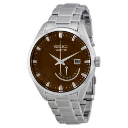 Men's Kinetic Stainless Steel Bronze Dial Watch