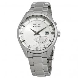 Men's Kinetic Stainless Steel White Dial Watch