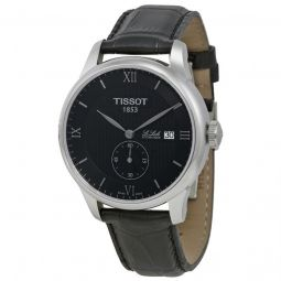 Men's Le Locle Black Leather and Dial