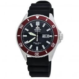 Men's Kanno Rubber Black Dial Watch