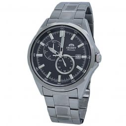Men's Mechanical Stainless Steel Black Dial Watch