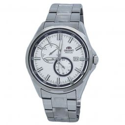 Men's Mechanical Stainless Steel White Dial Watch