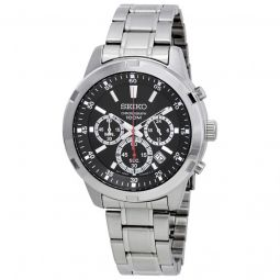 Men's Neo Sports Chronograph Stainless Steel Black Dial