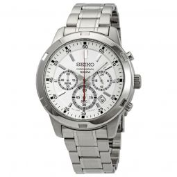 Men's Neo Sports Chronograph Stainless Steel Silver-tone Dial