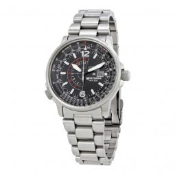 Men's Nighthawk Multi-Function SS Black Dial Stainless Steel