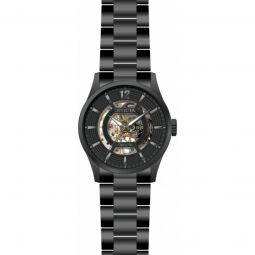 Men's Objet D Art Stainless Steel Black Dial Watch