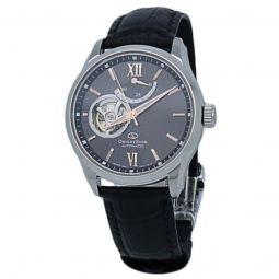 Men's Orient Star Leather Brown (Open Heart) Dial Watch