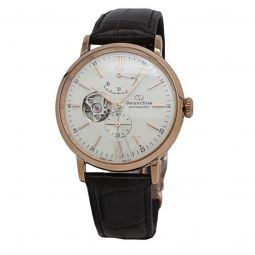 Men's Orient Star Leather White Dial