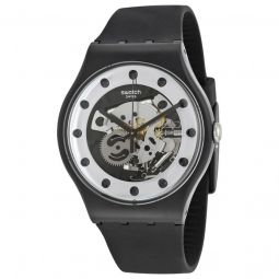 Men's Originals Silver Glam Silicone Silver with Skeleton Dial Watch