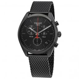 Men's PR 100 Chronograph Stainless Steel Black Dial Watch