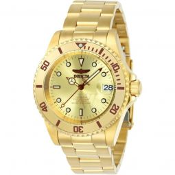 Men's Pro Diver Stainless Steel Gold-tone Dial