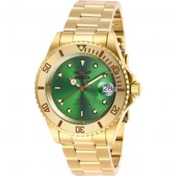 Men's Pro Diver Stainless Steel Green Dial