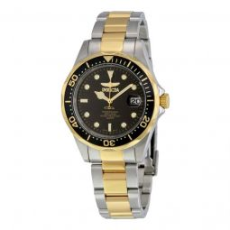 Men's Pro Diver Two-Tone Black Dial Watch