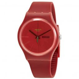 Men's REDVREMYA Rubber Red Dial